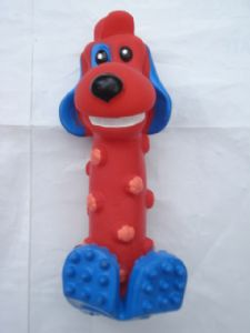 Red Squeaky Dog